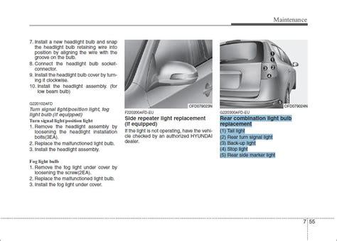 2011 hyundai sonata brake light bulb size low beam headlight 2006 tiburon wiring schematic beam