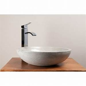 vasque ronde en beton cire pour 2 robinets design kayumanis With salle de bain design avec vasque ronde