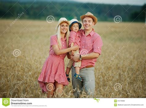 Happy Family In Country Style Stock Image Cartoondealer