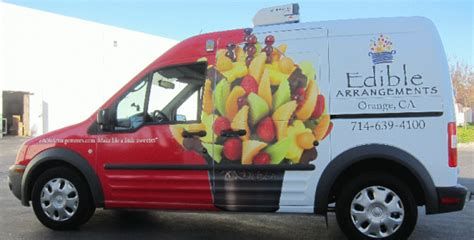 ford transit connect wrap  double duty orange ca