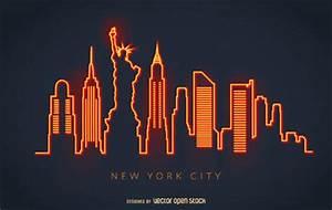 New York City colorful painted Vector