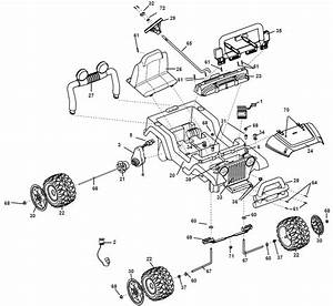 Power Wheels Girls Firerock Jeep Wrangler Parts