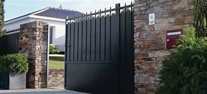 Portail De Maison : portail gris de maison de chez lapeyre photo 5 20 un ~ Premium-room.com Idées de Décoration