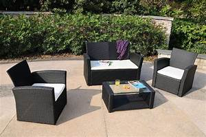 11 Piece Rattan Garden Furniture Cube Dining Set In Black ...