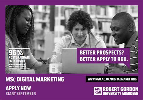 msc digital marketing msc digital marketing opening evening at rgu dr