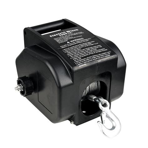 Boat Winch by 12v 2000lbs 907kg Detachable Portable Electric Winch