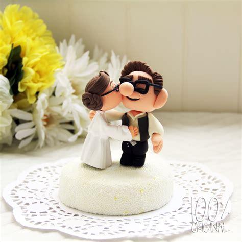 custom wedding cake topper star wars couple up