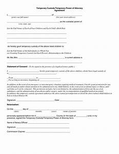 temporary custody letter template - best photos of temporary guardianship form florida free