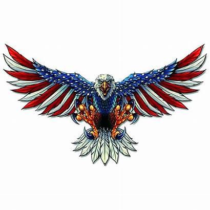 Eagle Flag American Sticker Window Decal Bald