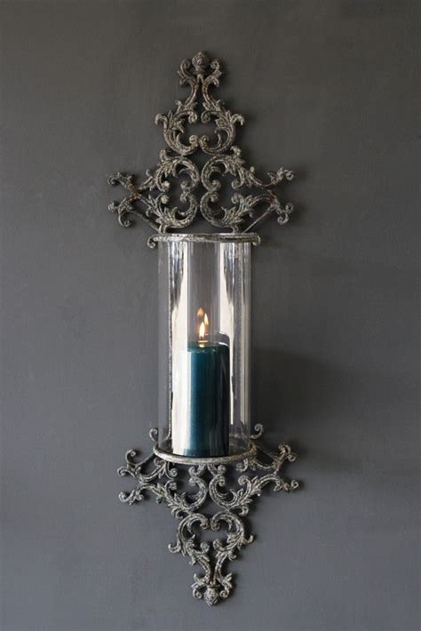 metal filigran candle wall sconce   candle wall