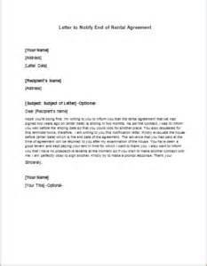 end of renting contract letter