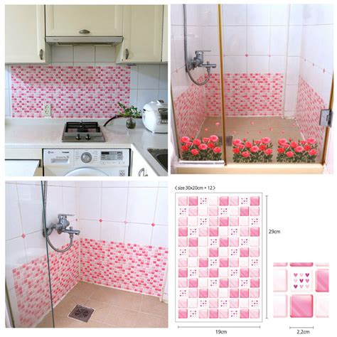 love effect tile stickers home decor kitchen bathroom wall