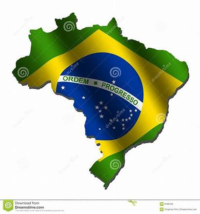 Flag Map Brazil Brazilian Illustration Flags Royalty