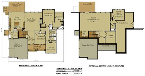house plans with basement garage two story cottage lake house plan with garage and optional basement