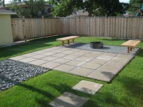 contemporary paver patio in a clean lined yard decoist