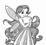 Fairy Coloring Anges Coloriage Fairies Tooth Open Cartoon sketch template
