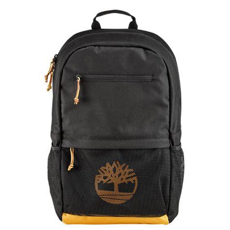 timberland tree logo zip top backpack