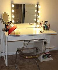 make up table Long Black Wooden Make Up Table With Glass Top Also ...