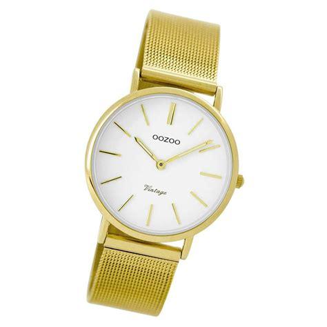 Oozoo Damen Armbanduhr Gold Ultra Slim Quarz C8875