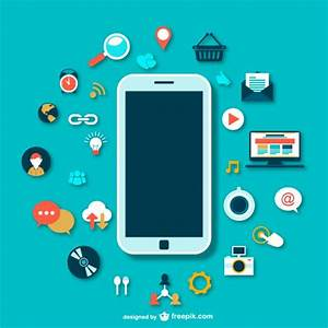 Smartphone with icons Vector | Free Download
