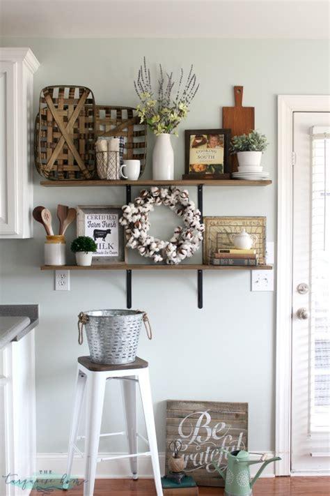 kitchen shelves decorating ideas decorating shelves in a farmhouse kitchen