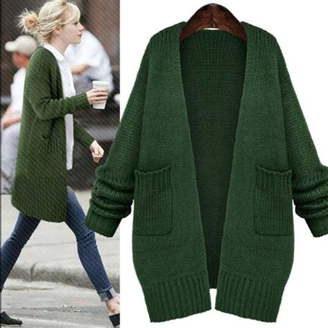 womens green cardigan sweater 2017 green knitted sweaters fashion