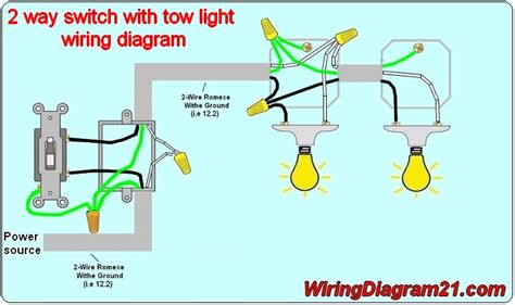 Wiring Switch Light by How To Install 2 Way Light Switch Diagram 2 Way Switch 3