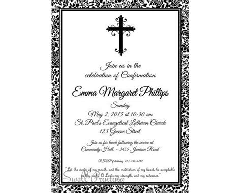 printable confirmation invitation  swell