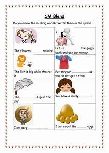 Sm Blends Sentences Worksheet