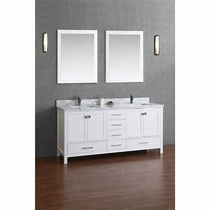 Buy vincent 72 inch solid wood double bathroom vanity in for Solid wood bathroom vanity