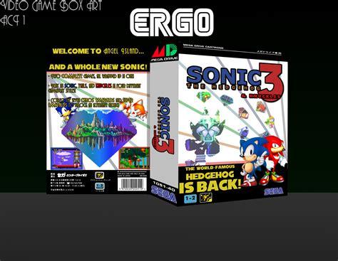 sonic  hedgehog  knuckles genesis box art cover  ergo