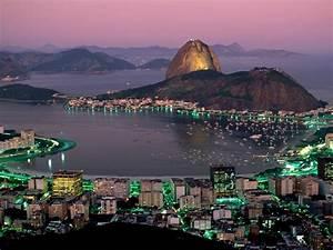Rio De Janeiro At Night Wallpaper Hd 235364