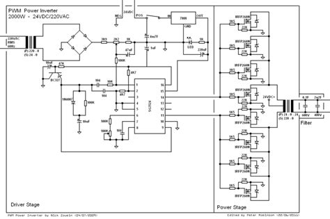 sine wave inverter circuit diagram the wiring diagram
