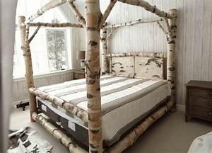 Bett Für Den Garten : 40 einmalige beispiele f r baumstamm deko ~ Frokenaadalensverden.com Haus und Dekorationen