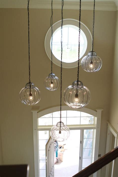 pottery barn quot caged glass pendant lighting