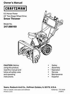 Craftsman 247 888160 Owner U0026 39 S Manual Pdf Download