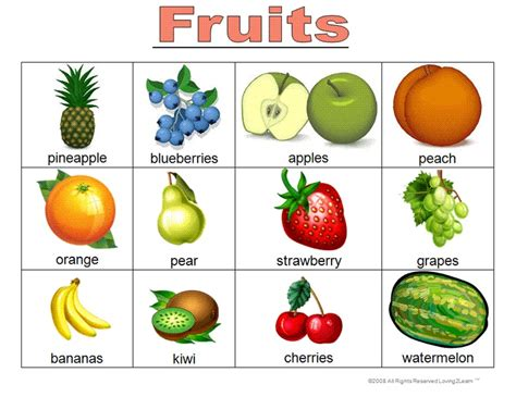 "A Fun Bingo ""fruits"" Game And Kids Can Play Along With A Video Wwwloving2learncom Early"
