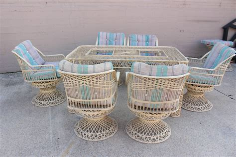 spun fiberglass outdoor dining set by woodard at