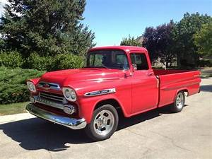 Purchase Used 1959 59 Chevy Apache Fleetside Pick Up Truck Classic Hot Rod Gasser Custom In