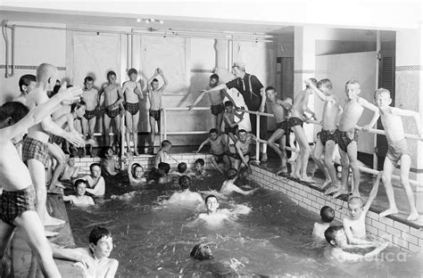 newsboys swimsuit newsboys swimming 1900s photograph by science source