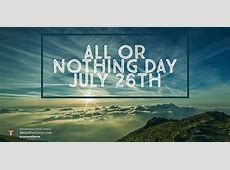 National All Or Nothing Day 2018 2019 Calendar with holidays