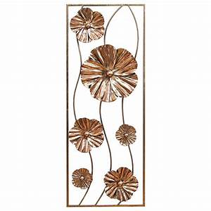 Stratton home decor rose gold flower panel wall
