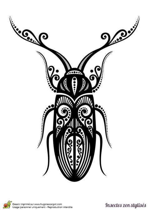 dictionnaire cuisine dessin à colorier d 39 un scarabée stylisé hugolescargot com