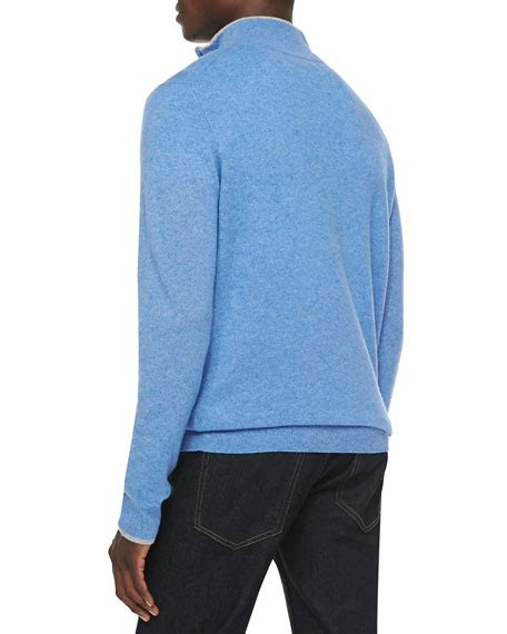 light blue cashmere sweater neiman marcus cashmere cloud quarter zip sweater light blue
