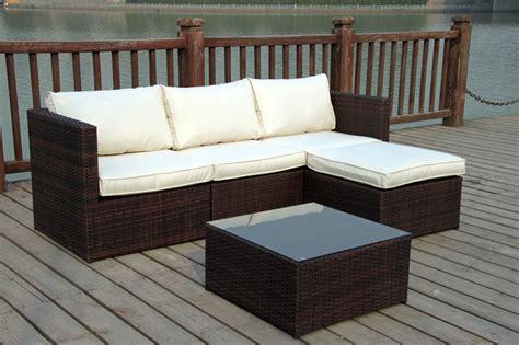 rattan mini corner sofa set reversadermcream