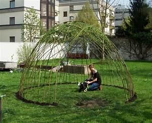 Vertikale Gärten Selber Machen : weidenlaube frisch gepflanzt garden pinterest frisch pflanzen und g rten ~ Bigdaddyawards.com Haus und Dekorationen