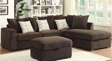 Microfiber Sectional Sofa by Brown Microfiber Sectional Sofa By Coaster 50044 B