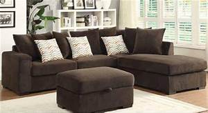 brown microfiber sectional sofa sofa menzilperdenet With chocolate brown microfiber small sectional sofa with reversible chaise ottoman