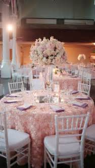 wedding reception chair covers fantastic blush rosette tablecloth with lavender napkins