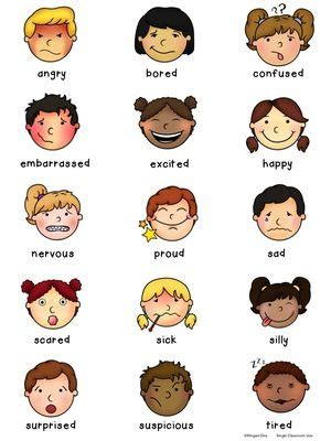 feelings emotions vocabulary poster from wingedone on 188 | 674096def57dec1b20ac25576821474f emotions preschool emotions activities
